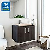 Kit lavamanos Sahara bone con mueble basic Rh 60x50 cm Salvaje