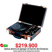 Reproductor de Acetatos Recargable FM USB SD Bluetooth VTA-82590