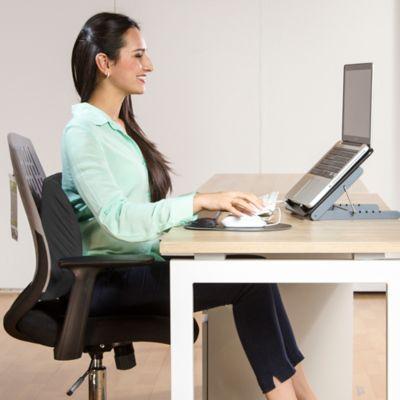 Cojin ergonomico negro for Cojin lumbar silla oficina