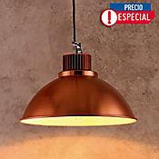 Lámpara Colgante 1 Luz E27 Campana Bronce