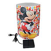 Lámpara de Mesa Ovalada Mickey 1 Luz Rosca E27 Estampada