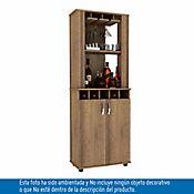Mueble para Bar Porto 2 Puertas 168.3x59.9x31.7 cm Amaretto
