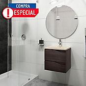 Kit de Lavamanos Rio Beige con Mueble Picasso 48x43 cm 2 Cajones Tabaco Chic