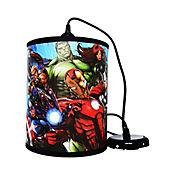 Lámpara Colgante Redonda Avengers 1 Luz Rosca E27 Estampada