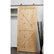 Kit riel puerta deslizable gris