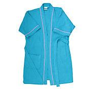 Bata de Baño para Mujer 100% Algodón 350 gramos Azul