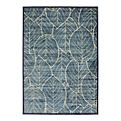 Tapete Vintage 80x125 cm Hojas Azul