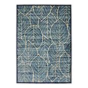 Tapete Vintage 120x170 cm Hojas Azul