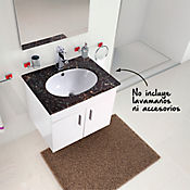 Mueble isla blanco para lavamanos 58 x 45.5 x 46.5 cm