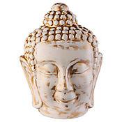 Escultura Buda Tibet 24 cm Blanco
