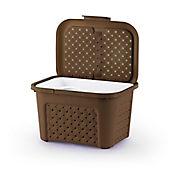 Caja plástica neceser portátil wengue