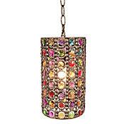 Lámpara Colgante 1 Luz E27 Bronce Multicolor
