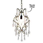Lámpara Colgante 1 Luz E14 Dorado Antiguo