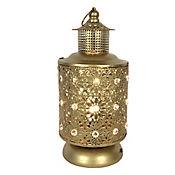 Lámpara de Mesa 1 Luz E14 Dorado Antiguo