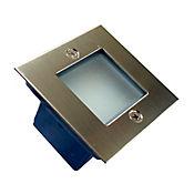Lampara LED Guia Empotrar Cuadrado 90 Lúmenes 1w Luz Fría Aluminio Y Plástico