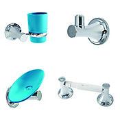 Kit x 4 accesorios  happy rodano Azul mar