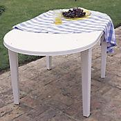 Mesa Plástica Ovalada Blanca