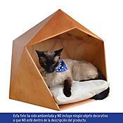 Casa Mascota Poliedro Color Caramelo - Cojin Beige