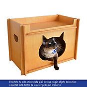 Casa Gato Armable Color Caramelo - Sin Cojin