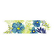 Listello para Baño Hawaiana 8x25 cm Azul