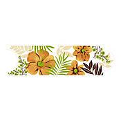 Listello para Baño Hawaiana 8x25 cm Verde