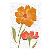 Base Cerámica Decorada para Baño Aurela Dos Flores 20.5x30.5 cm Multicolor