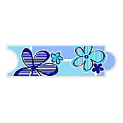 Listello para Baño Flore 8x25 cm Azul
