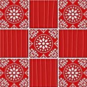 Mosaico Carmin rojo 23.7x23.7cm
