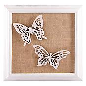 Cuadro 3D Mariposa Filadelfia 36.5 cm Café