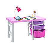 Escritorio Infantil Multicolor Rosa - Lila - Fucsia