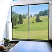 Puerta ventana 1.8x2m aluminio corred xo vidrio templado 5mm