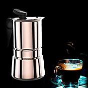 Cafetera 10 Tazas Steel Moka Acero