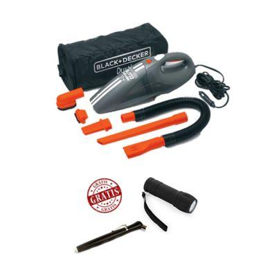 Aspiradora para Auto con Accesorios Gratis Linterna y Calibrador Black+Decker