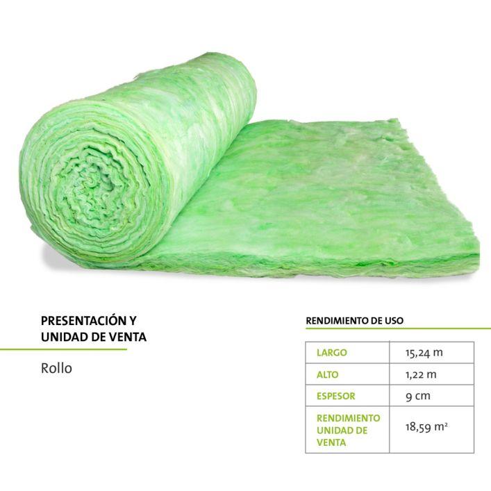 Aislamiento fibra de vidrio frescasa 18 59 m2 sin papel - Aislamiento fibra de vidrio ...