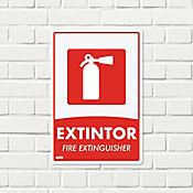 Senal Extintor 22x15cm Poliestireno