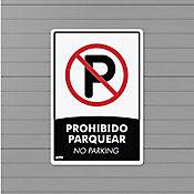 Senal Prohibido Parquear 22x15cm Poliestireno
