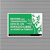 Senal Prohibido Fumar 22x15cm Poliestireno
