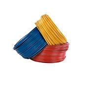 Alambre #10 1 metro amarillo Conectores y Cables