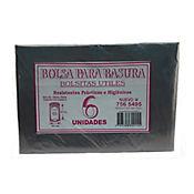 Bolsa Para Basura Negra 65 x 85 cm 6 Und