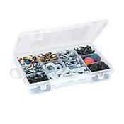 Caja Plástica con Divisiones y Gancho Transparente