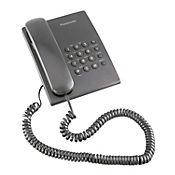 Teléfono Alámbrico Escritorio Básico Negro KX-TS500LX1B