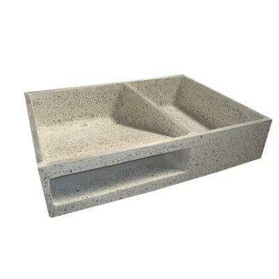 Lavadero 100x60x20cm granito prefacon for Lavadero de granito