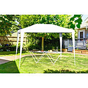 Toldo Plegable con Base 3x2 metros Blanco