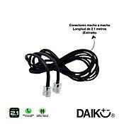 Cable teléfono 2,1 metros-7 ft negro plano rj-11