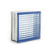 Bloque vidrio parallel blue 190 mm x 190 mm x 80 mm