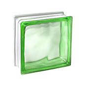 Bloque vidrio cloudy green 190 mm x 190 mm x 80 mm