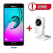 Combo Samsung Galaxy A3 Negro + Cámara IP Inalámbrica HD 720P P2P Puerto MicroSD
