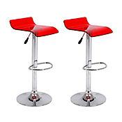 Set x 2 sillas bar acrílicas Artemisa rojas