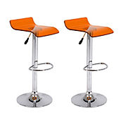 Set x 2 sillas bar acrílicas Artemisa naranjas