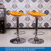 Set x 2 sillas bar Creta naranja